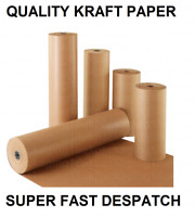 KRAFT CRAFT BROWN PACKING PARCEL WRAPPING PAPER ROLLS