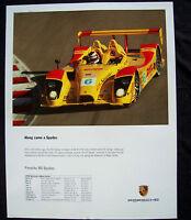 PORSCHE AMERICAN LE MANS SERIES (ALMS) SCHEDULE RS SPYDER RACECAR POSTER 2006.
