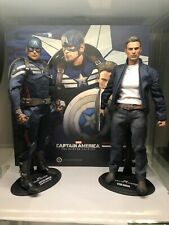 Hot Toys MMS243 1/6 Captain America & Steve Rogers Collectible Figure Set
