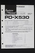 Pioneer pd-x530 ORIGINALE LETTORE CD MANUALE DI SERVIZIO/SCHEMA ELETTRICO/