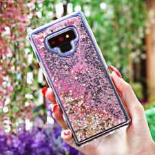 For Samsung Galaxy Note 9 A8 J6 Quicksand Glitter Dynamic Liquid Clear Tpu Case