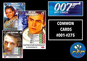James Bond 007 Spy Cards - COMMANDER COMMON SINGLES - Restocked (2008)