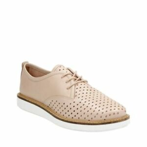 CLARKS **Glick Resseta Nude Leather** Women's Lace up shoes UK 6 RRP £75