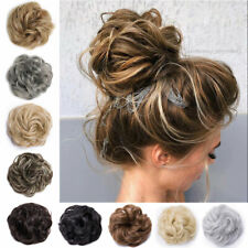 Real Thick Curly Messy Bun Updo Hair Piece Scrunchie AS Human Hair Extensions US