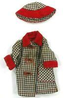 "Barbie & Friends Vintage 50's-60's Clone Jacket & Hat For 9"" Blk Wht w/Red Trim"