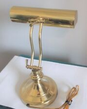 Vintage Brass Piano Lamp Adjustable Arm Bankers Desk Lamp Works Great Very Nice