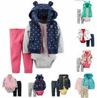 New-born Baby Infant Boys Girl Romper Hooded Jumpsuit Bodysuit Clothes Set
