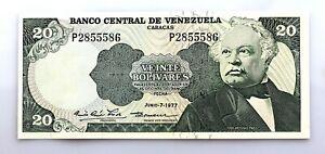 Venezuela. 20 Bolivares. Junio - 7 - 1977. SC/UNC