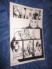 SUPERMAN BATMAN #33 Original Art Page #21 by Alex Konat/Rob Hunter ~BANE