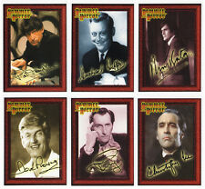 Hammer Horror Set of 6 Male Actor Portrait Gallery Facsimile Autograph Cards HTF