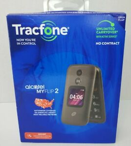 Tracfone TCL MyFlip 2, 4GB Black - Prepaid Phone Brand New Sealed
