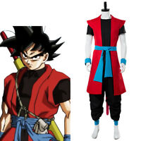 Super Dragon Ball Heroes:Universe Mission Son Goku ZENO Saiyan 4 Cosplay Costume