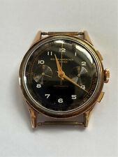Reloj Cronógrafo vintage BAUME & MERCIER 18 quilates de oro sólido Landeron