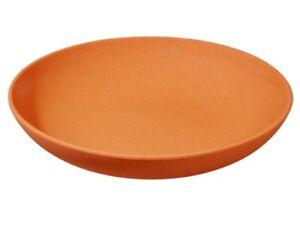 Toller Zuperzozial tiefer Teller tief aus Kunststoff / Melamin leuchtend Orange