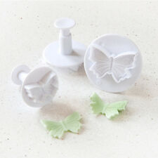 3 PC Butterfly Impression  and Plunger Cutters Set from Bakell