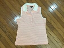 9277271a5143d Brooks Brothers Women s Peach   White Polo Tank Sleeveless Top Blouse Size L