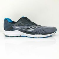 Saucony Mens Ride 10 S20373-6 Gray Black Running Shoes Lace Up Low Top Size 9.5