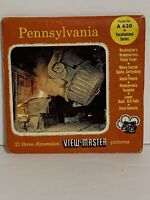 1955 Pennsylvania The Keystone State 3 Viewmaster Reel Set Vacationland Series