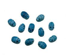 11 Perles scarabée khepri pour pendentif bracelet made in Egypte céramique 7986