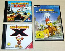3 PC SPIELE SAMMLUNG - MOORHUHN - KART 3 EXTRA - X - DAS VERBOTENE SCHLOSS