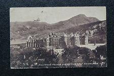 Vintage Postcard sent 1904- Holyrood Palace and Arthur Seat, Edinburgh.