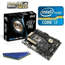 INTEL I7 4790K QUAD CORE UNLOCKED CPU ASUS Z97 PRO ATX MOTHERBOARD COMBO KIT