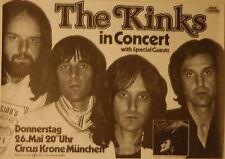 THE KINKS CONCERT TOUR POSTER 1977 SLEEPWALKER