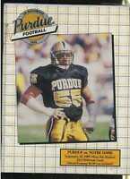 1989 Purdue vs Notre Dame program MBX33