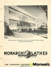 Monarch M N NN AA W BB K CK C CY CU EE Lathe Instruction and Parts Manual