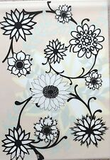 2 x A4 Large Sunflower Pattern on White Vellum NEW