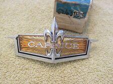 * NOS 1972 Chevy Caprice Front Grille Name Plate Script Crest Emblem GM 6263035