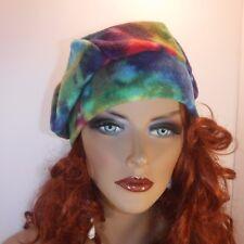 "Chemo Hat Watercolor  Anti-pill Fleece Beret Cap  ""Something4you"" Alopecia"