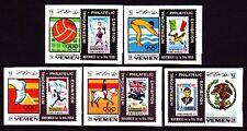 Yemen Kgr 1968 ** Mi.627/31 B EFIMEX Marke auf Marke stamp on stamp