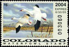 COLORADO #15 2004 STATE DUCK SNOW GOOSE  by Jeffrey Klinefelter