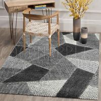 Tonle Urban Abstract Charcoal Grey Modern Floor Rug - 4 Sizes **FREE DELIVERY**