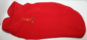 Gooby Fleece Vest Pullover Jacket Sweater w/Leash Ring SMALL BREED Red L
