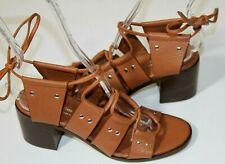 #2 New Charles David Gladiator Brown Leather Birch Block Sandal  Sz 6   $269