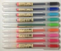 MUJI Gel Ink Ballpoint Pens 0.5mm 9-colors Pack Free shipping