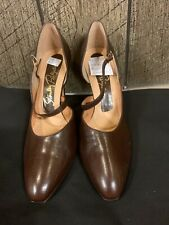 Stanley Philipson Brown Leather Women's Vintage Pumps 3.5� Heels Shoes Size 8