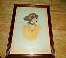 1909 Collier's Original Artist Proof Gibson Girl Series A No 1 Signed