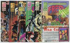 Freex #1 - 18, Giant-Size 1  Complete Run  avg. NM 9.4 white pages  Malibu  1993