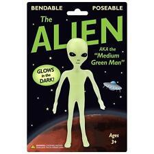 ALIEN Bendable Posable figure GLOW martian x-file UFO space man area51 Toy BENDY