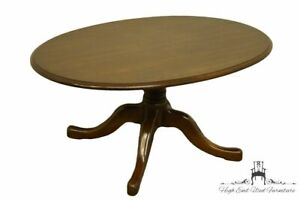 """PENNSYLVANIA HOUSE Traditional Style Solid Cherry 36"""" Oval Accent Coffee Tabl..."""