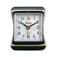 Travel Alarm Clock,  Quartz Movement, Fold-Up Case