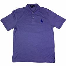 Polo Ralph Lauren Shirt Mens Medium Purple Pro Fit Big Pony Short Sleeve Rugby *