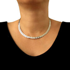Large 925 Sterling Taxco Silver Woven Choker Torc Gift Boxed