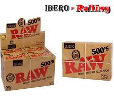 Papel natural RAW Classic. Caja 20 libritos. 500 hojas librito. Tamaño 1 1/4