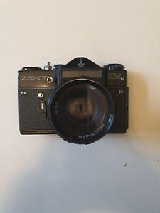 Zenit EM 35mm SLR Olympic Camera w/ Helios-44M 2/58 Lens Made In USSR - SAL L30