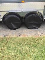 4 off Caravan and boat  Wheel/Tyre covers Black