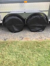 4 off Caravan and boat  Wheel/Tyre covers Black